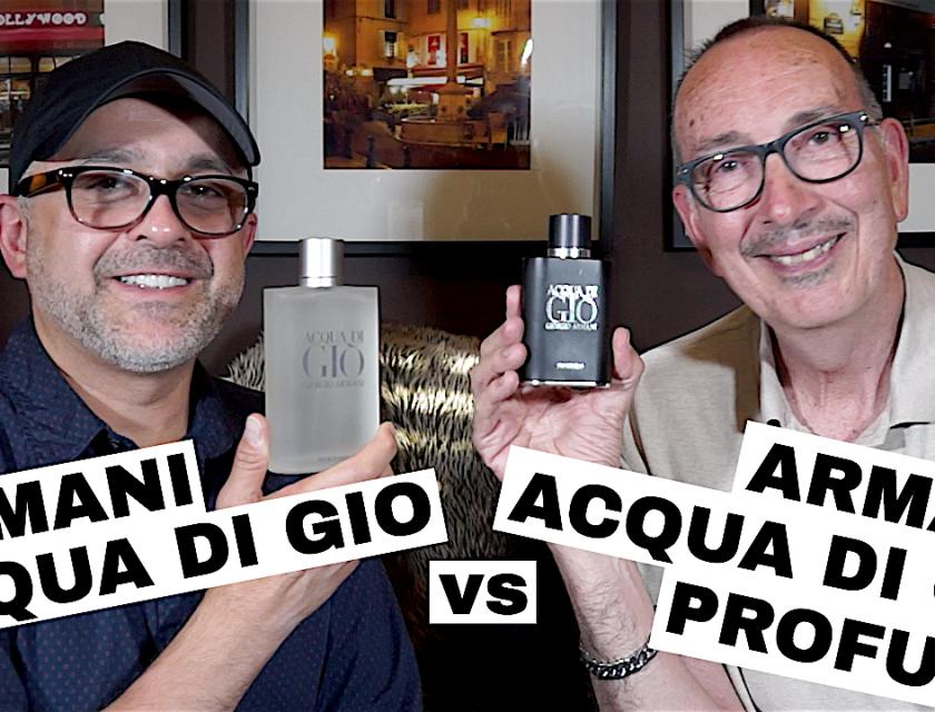 Armani Acqua Di Gio vs Armani Acqua Di Gio Profumo