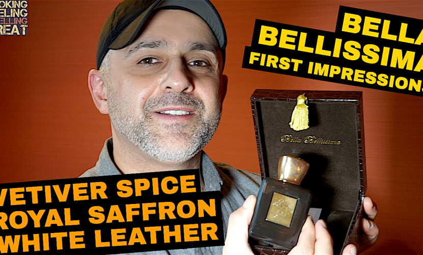 Bella Bellissima Perfumes First Impressions Vetiver Spice, White Leather, Royal Saffron